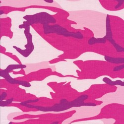 Bomuld/lycra økotex m/army-print i pink