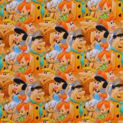 Bomulds jersey med digitalt tryk med Flintstones