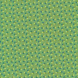 Bomuld/elasthan økotex med små blade i grøn