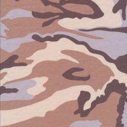 Bomuld/lycra økotex m/army-print i brun