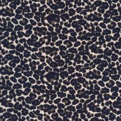 Bomulds jersey i leopard print i creme, army og blå