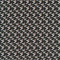 Polyester jersey med 3-kant mønster i sand mørkegrøn og sort