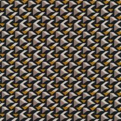 Polyester jersey med 3-kant mønster i sand carry og sort