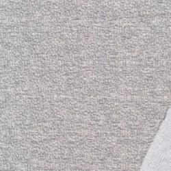 Jacquard jersey i bomuld/polyester i lysegrå meleret