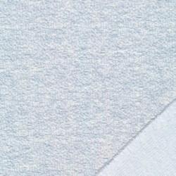 Jacquard jersey i bomuld/polyester i babylyseblå meleret