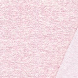 Jacquard jersey i bomuld/polyester i babylyserød meleret