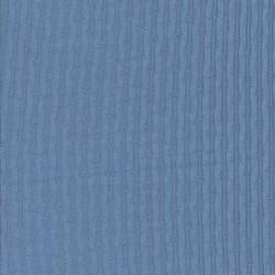 Ribstrikket jersey i bomuld med mønster i støvet blå