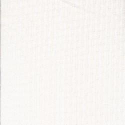 Ribstrikket jersey i bomuld med mønster i knækket hvid