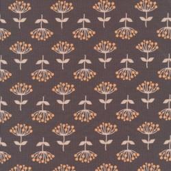 Bomulds jersey i støvet brun med frø-skærm