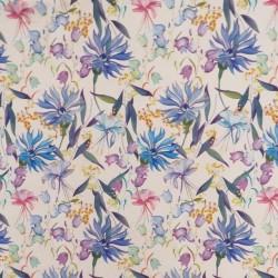 Bomuld/lycra økotex m/digitalt tryk i pudder med blomster