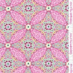Bomulds jersey økotex i rosa med mønster - Gütermann