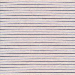 Stribet strik- jersey i offwhite og klar blå