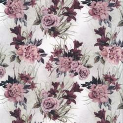 Bomuld/lycra økotex m/digitalt tryk med gl.rosa blomster