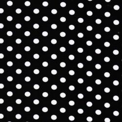 Bomuld/lycra økotex m/prikker, sort/hvid