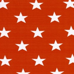 Bomuld/lycra økotex m/stjerner orange/hvid