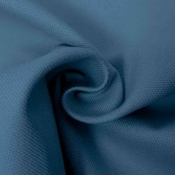 Kanvas 100% bomuld i Halv Panama, støvet blå/denim