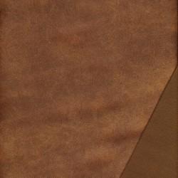 Imiteret læder/nappa til møbler krakeleret i rød-brun
