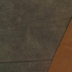 Imiteret læder/nappa til møbler krakeleret i grå-grøn