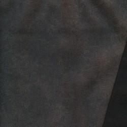 Imiteret læder/nappa til møbler krakeleret i mørk grå-brun