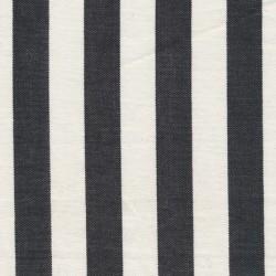 Liggestole stof stribet sort/off-white