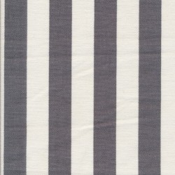 Liggestole stof stribet grå/off-white