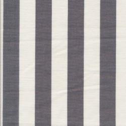 Rest Liggestole stof stribet grå/off-white, 125 cm. m/fejl