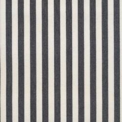 Liggestole stof smal stribet sort/off-white