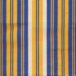 Liggestole stof stribet gul, blå og offwhite