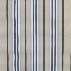 Liggestole stof stribet i khaki, lyseblå, marine