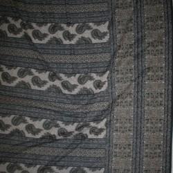 Mesh med sjalsmønster og stribe mønster sort brun grå