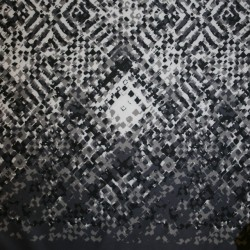 Rest Neopren-jersey scuba, mønstret grå/lysegrå/hvid- 95 cm.