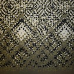Neopren-jersey scuba, mønstret army/lysegrøn