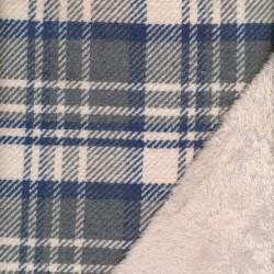 2-sidet skovmands-tern/pels i offwhite, blå, grå og sand