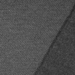 Twill vævet i uld-look i grå og lys grå