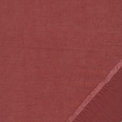 Cupro i polyester i støvet rust/rosa