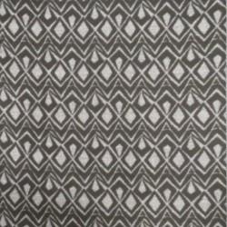 Filt/uld-look med rude-mønster i sort og grå