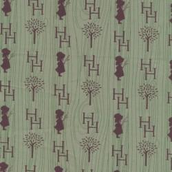 Patchwork Holly Hobbie country stof i grøn og brun