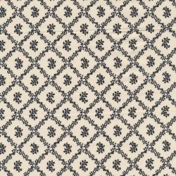 Afklip Patchwork stof i sort og off-white og med rudemønster 50x