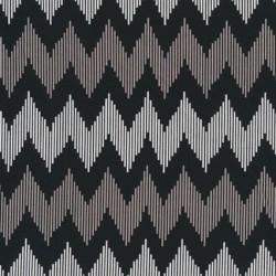 Patchworkstof med zigzag i sort, hvid og beige