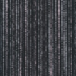 Patchwork stof med bobler og striber i sort og grå