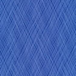 Patchworkstof med skrå striber i blå og lyseblå