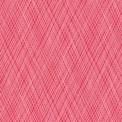 Afklip Patchwork stof med skrå striber i koral og lyserød, 50x55 cm.