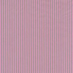 Patchwork stof stribet poplin i lysegrå og lyserød