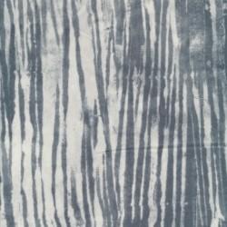 Patchwork stof med uens striber hvid grå