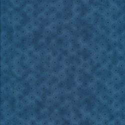 Afklip Patchwork stof let batik med cirkler i blå 50x55 cm.