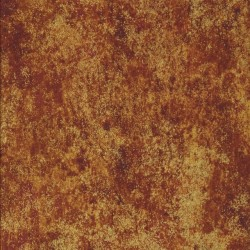 Patchworkstof batik i rust, gylden og guld