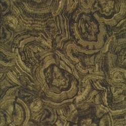 Patchworkstof batik i army, oliven og sort i træårer-look