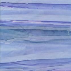 Patchworkstof batik i retro stripe lyseblå lilla denim
