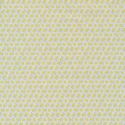 Rest Tilda Patchwork stof med lille blomst i offwhite lime petrol- 14 cm.