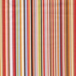 Patchwork stof stribet poplin i lyserød, brun, lyseblå